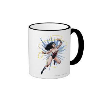 Wonder Woman & Lasso of Truth Ringer Coffee Mug