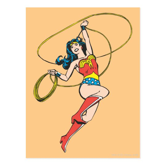 Wonder Woman Lasso of Truth Postcard