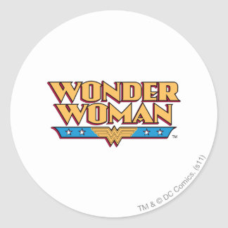 Wonder Woman Logo 2 Classic Round Sticker