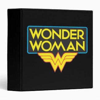 Wonder Woman Logo 3 Binder