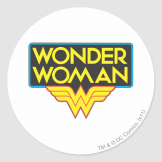 Wonder Woman Logo 3 Classic Round Sticker