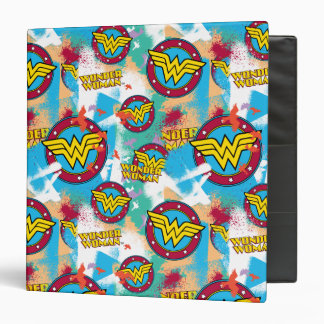 Wonder Woman Logo Collage 1 Vinyl Binder