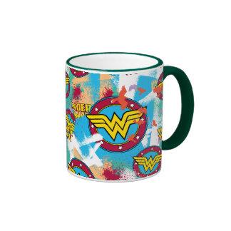 Wonder Woman Logo Collage 1 Mugs