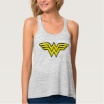 Wonder Woman Logo Flowy Racerback Tank Top
