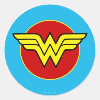Wonder Woman Logo | Happy Birthday Classic Round Sticker
