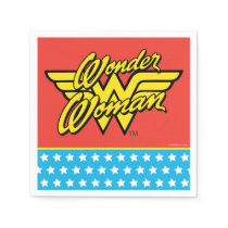 Wonder Woman Logo | Happy Birthday Paper Napkin