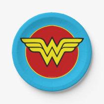 Wonder Woman Logo | Happy Birthday Paper Plate