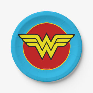 Wonder Woman Logo | Happy Birthday Paper Plate