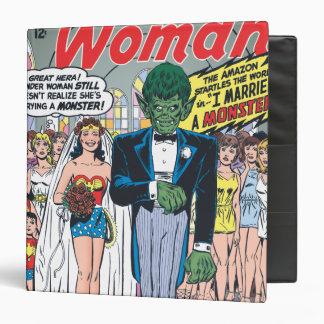 Wonder Woman Married a Monster 3 Ring Binders