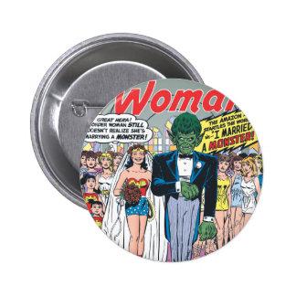 Wonder Woman Married a Monster Pinback Buttons