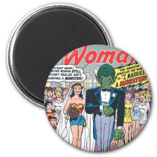 Wonder Woman Married a Monster Refrigerator Magnet