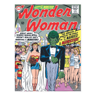 Wonder Woman Married a Monster Postcard