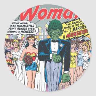 Wonder Woman Married a Monster Stickers