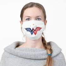 Wonder Woman Modern & Retro Comic Overlay Logo Adult Cloth Face Mask