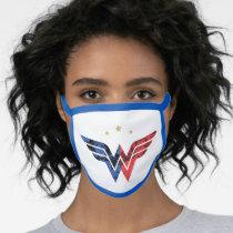 Wonder Woman Modern & Retro Comic Overlay Logo Face Mask