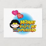 Wonder Woman | Mommy You're My Superhero Invitation Postcard