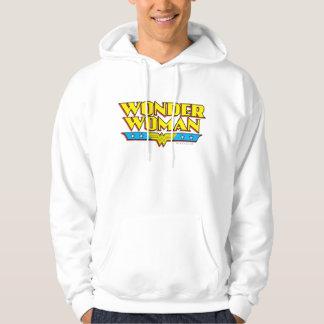 Wonder Woman Name and Logo Hoodie