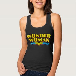 Wonder Woman Name and Logo Tank Top