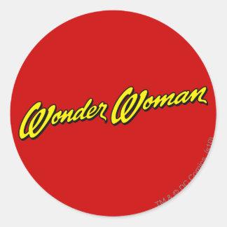 Wonder Woman Name Classic Round Sticker