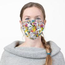 Wonder Woman Neon Pattern Adult Cloth Face Mask