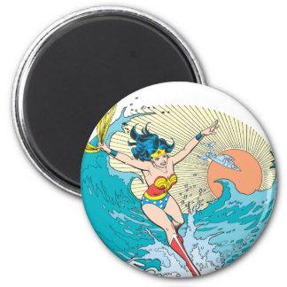 Wonder Woman Ocean Sky 2 Inch Round Magnet