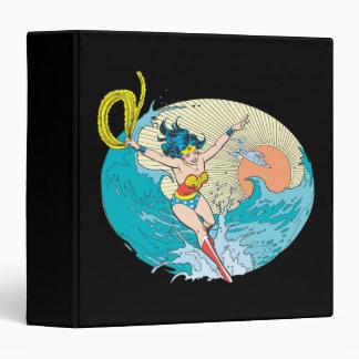 Wonder Woman Ocean Sky Binder