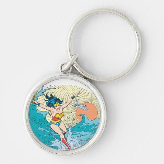 Wonder Woman Ocean Sky Keychain