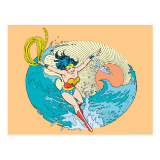 Wonder Woman Ocean Sky Postcard
