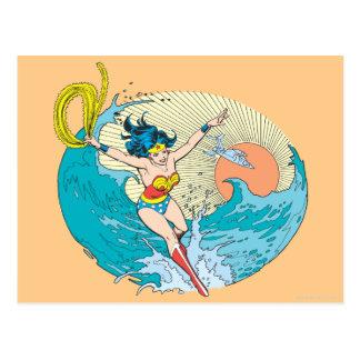 Wonder Woman Ocean Sky Postcard