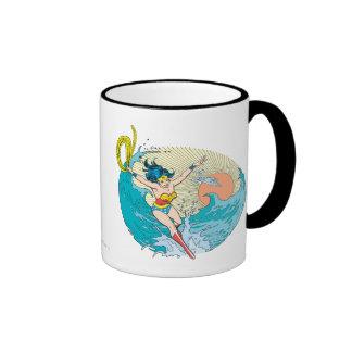 Wonder Woman Ocean Sky Ringer Mug