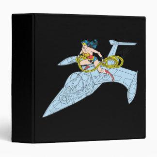 Wonder Woman on Spaceship Vinyl Binders