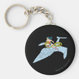 Wonder Woman on Spaceship Keychain