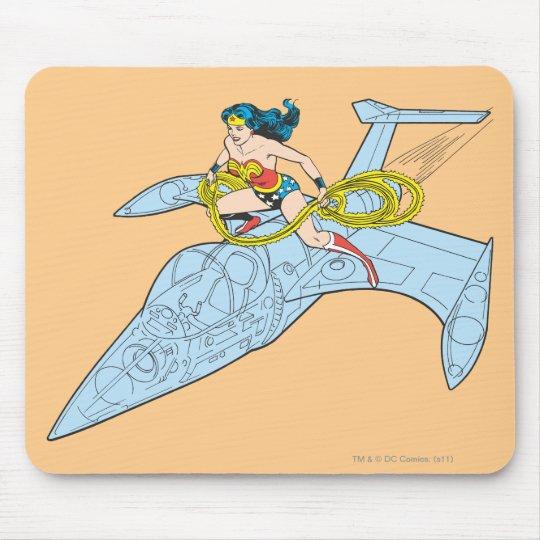 Wonder Woman on Spaceship Mouse Pad