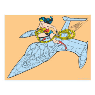 Wonder Woman on Spaceship Postcard