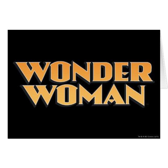 Wonder Woman Orange Logo Card