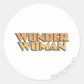 Wonder Woman Orange Logo Classic Round Sticker