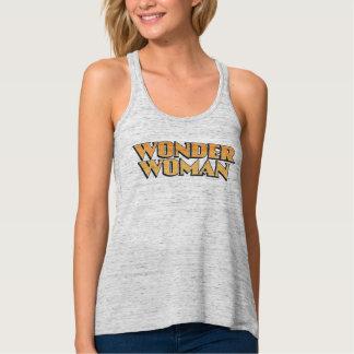 Wonder Woman Orange Logo Flowy Racerback Tank Top