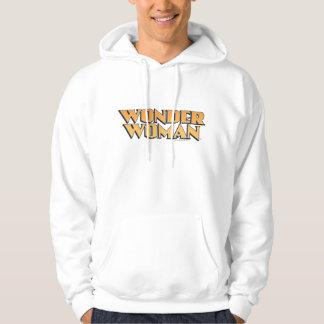 Wonder Woman Orange Logo Hooded Pullover