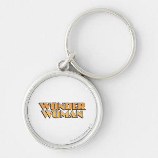 Wonder Woman Orange Logo Keychain