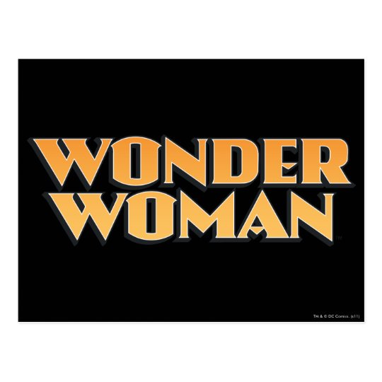 Wonder Woman Orange Logo Postcard