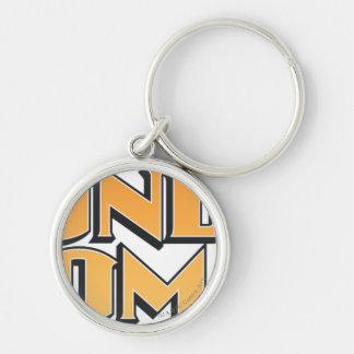 Wonder Woman Orange Logo Silver-Colored Round Keychain