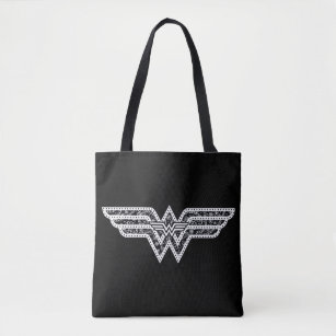 Wonder Woman Paisley Logo Tote Bag