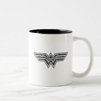Wonder Woman Paisley Logo Two-Tone Coffee Mug