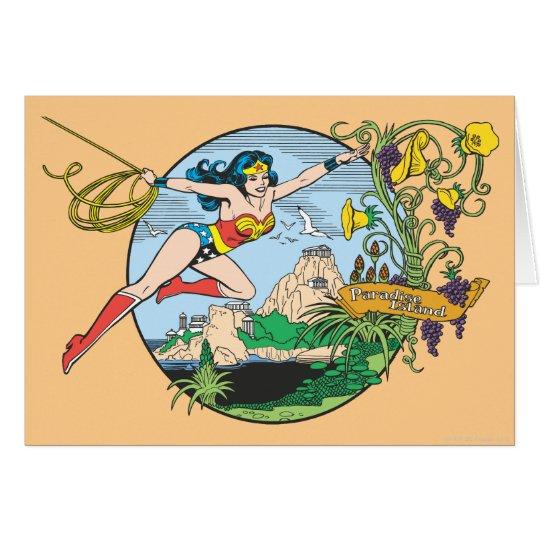 Wonder Woman Paradise Island Card