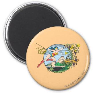Wonder Woman Paradise Island Refrigerator Magnets