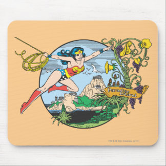 Wonder Woman Paradise Island Mouse Pad