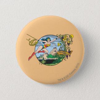 Wonder Woman Paradise Island Pinback Button