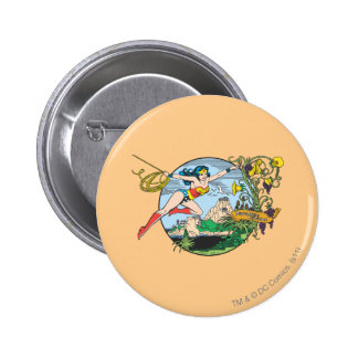 Wonder Woman Paradise Island Pinback Button