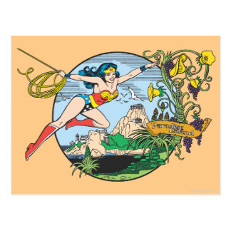 Wonder Woman Paradise Island Postcard
