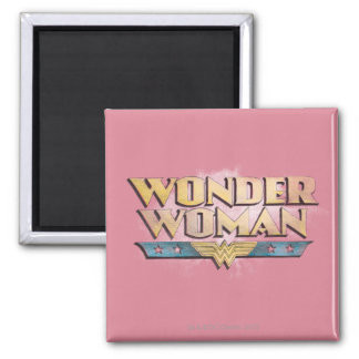 Wonder Woman Pencil Logo 2 Inch Square Magnet